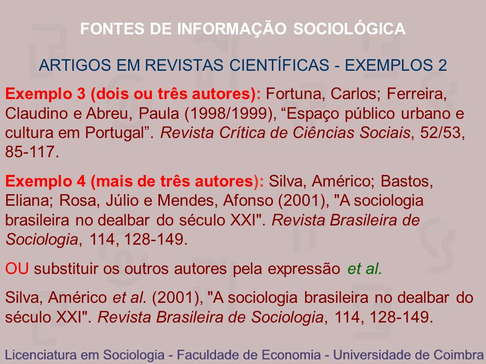 ARTIGOS EM REVISTAS CIENTÍFICAS - EXEMPLOS 2