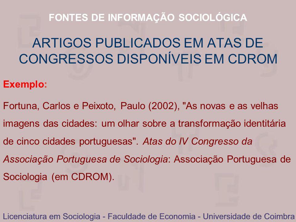 ARTIGOS PUBLICADOS EM ATAS DE CONGRESSOS DISPONÍVEIS EM CDROM