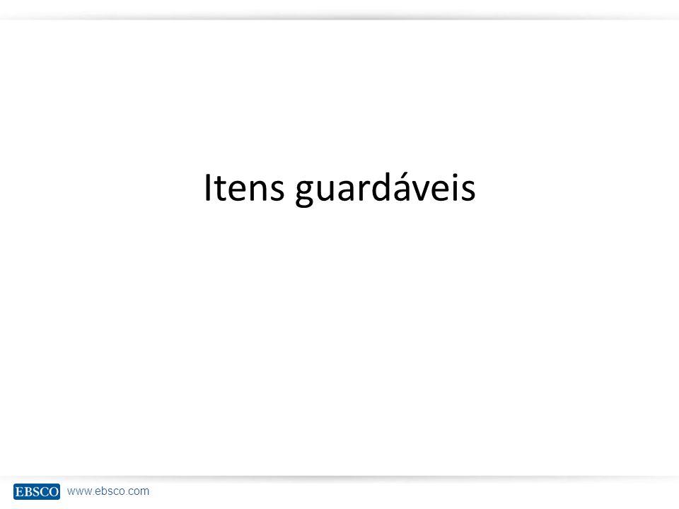 Itens guardáveis