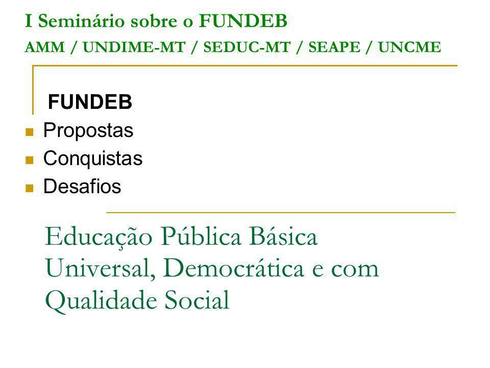 Educação Pública Básica Universal, Democrática e com Qualidade Social