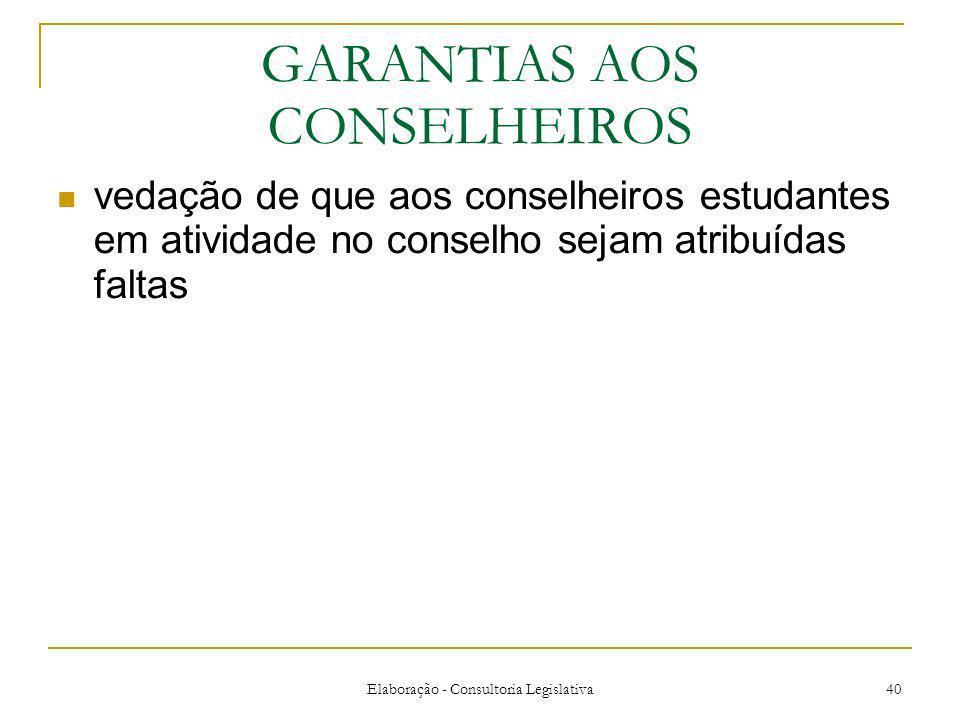 GARANTIAS AOS CONSELHEIROS