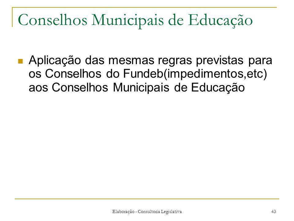 Conselhos Municipais de Educação