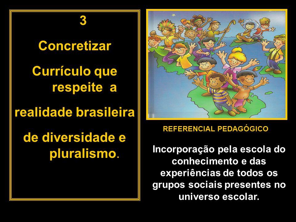 Currículo que respeite a REFERENCIAL PEDAGÓGICO