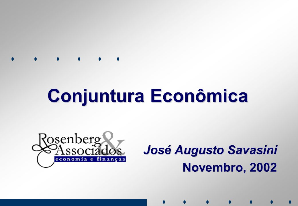 José Augusto Savasini Novembro, 2002