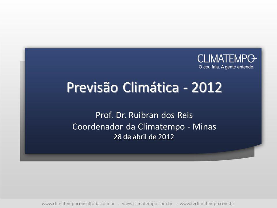 Previsão Climática - 2012 Prof. Dr. Ruibran dos Reis