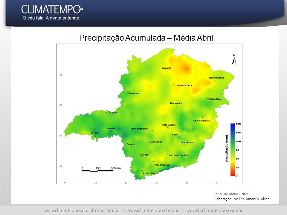 Precipitação Acumulada – Média Abril