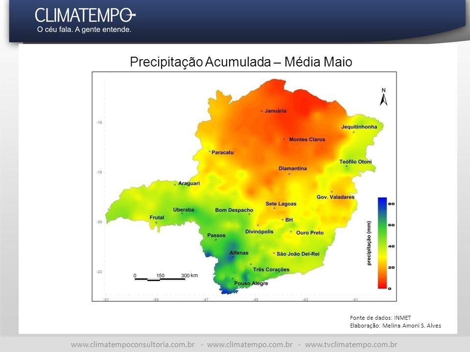 Precipitação Acumulada – Média Maio