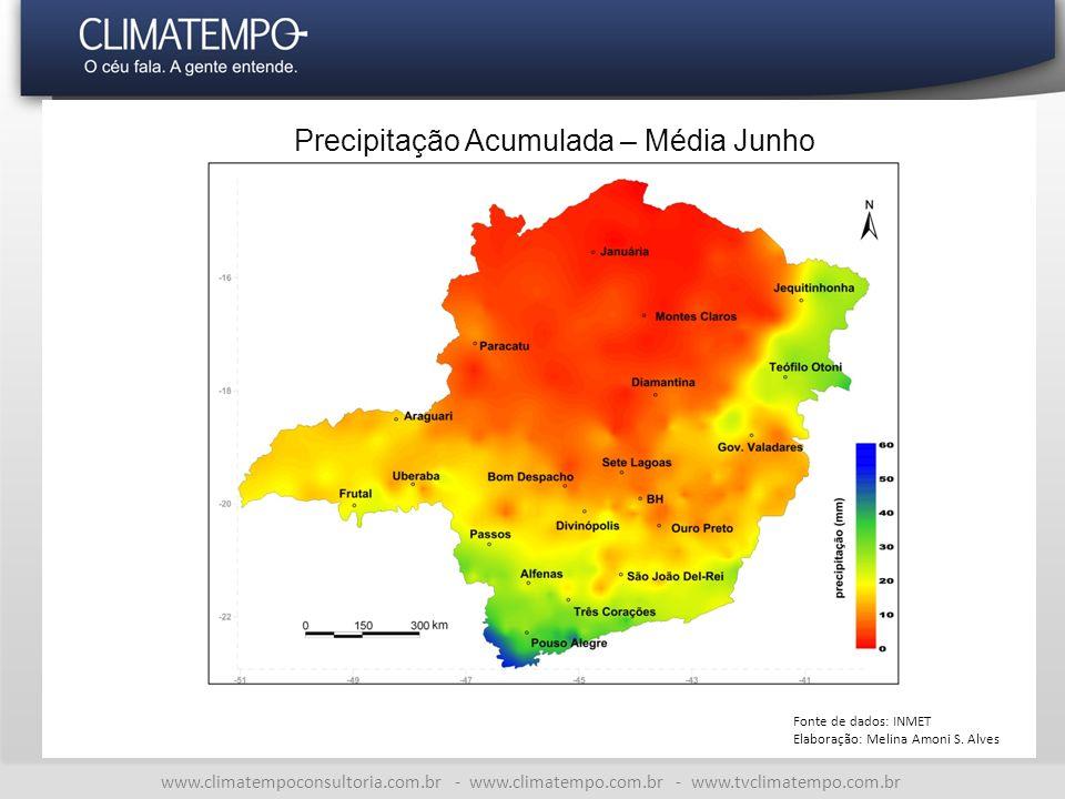 Precipitação Acumulada – Média Junho