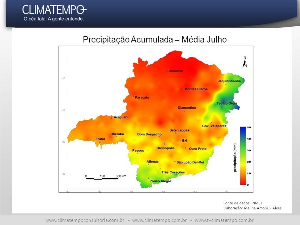 Precipitação Acumulada – Média Julho