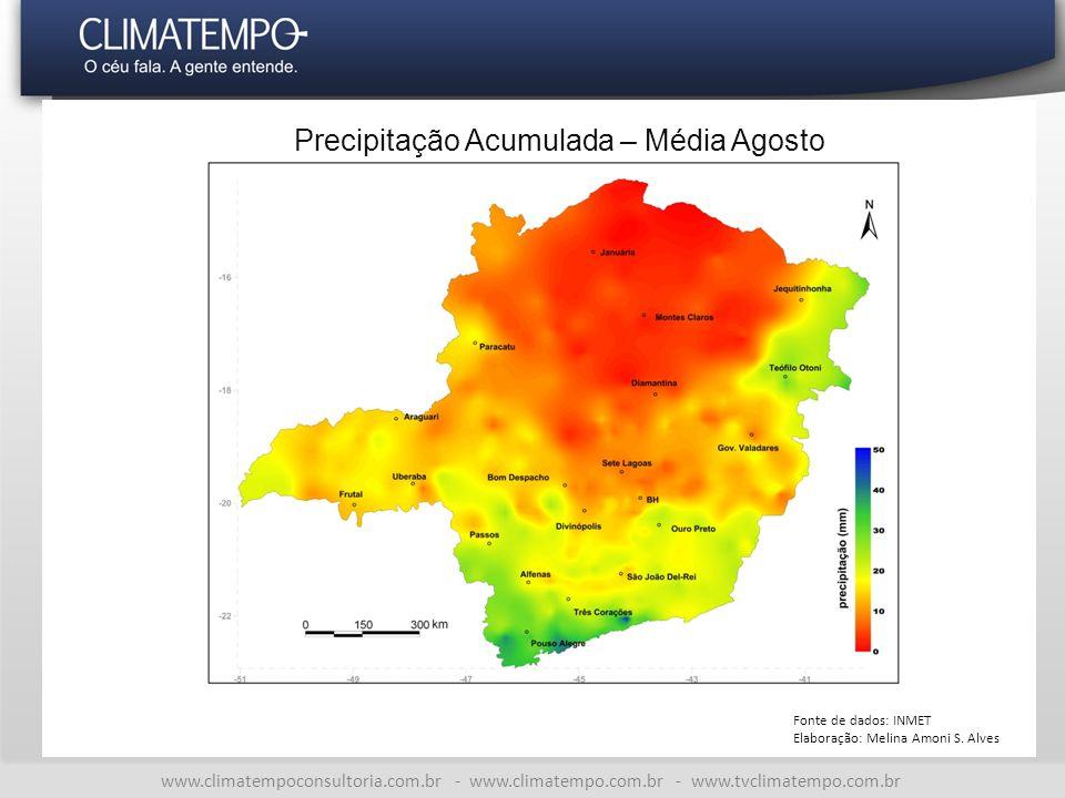 Precipitação Acumulada – Média Agosto