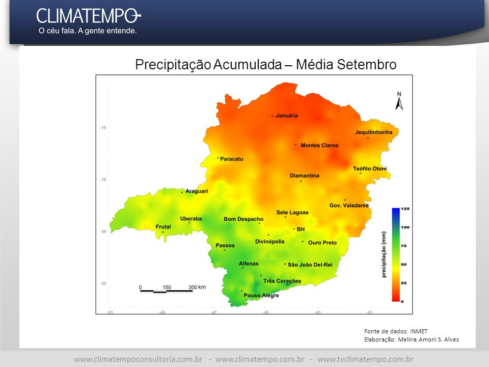 Precipitação Acumulada – Média Setembro