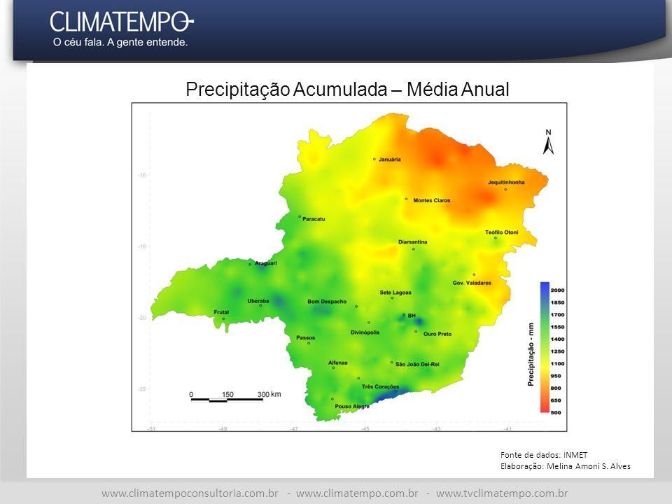 Precipitação Acumulada – Média Anual