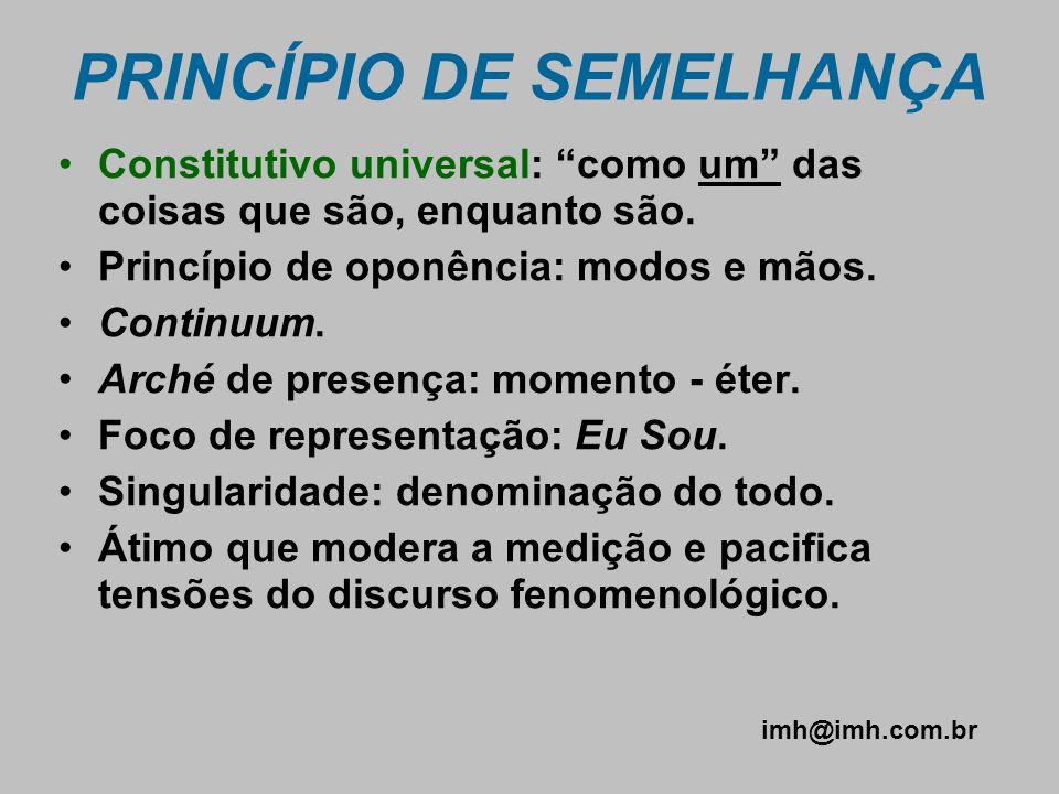 PRINCÍPIO DE SEMELHANÇA