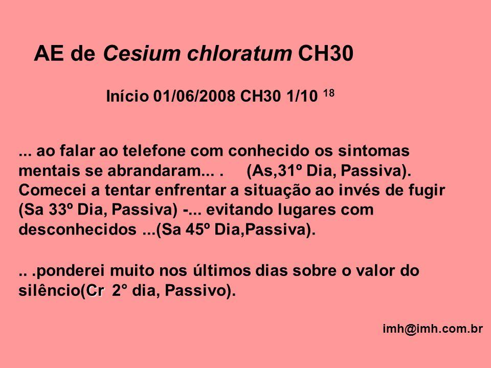 AE de Cesium chloratum CH30