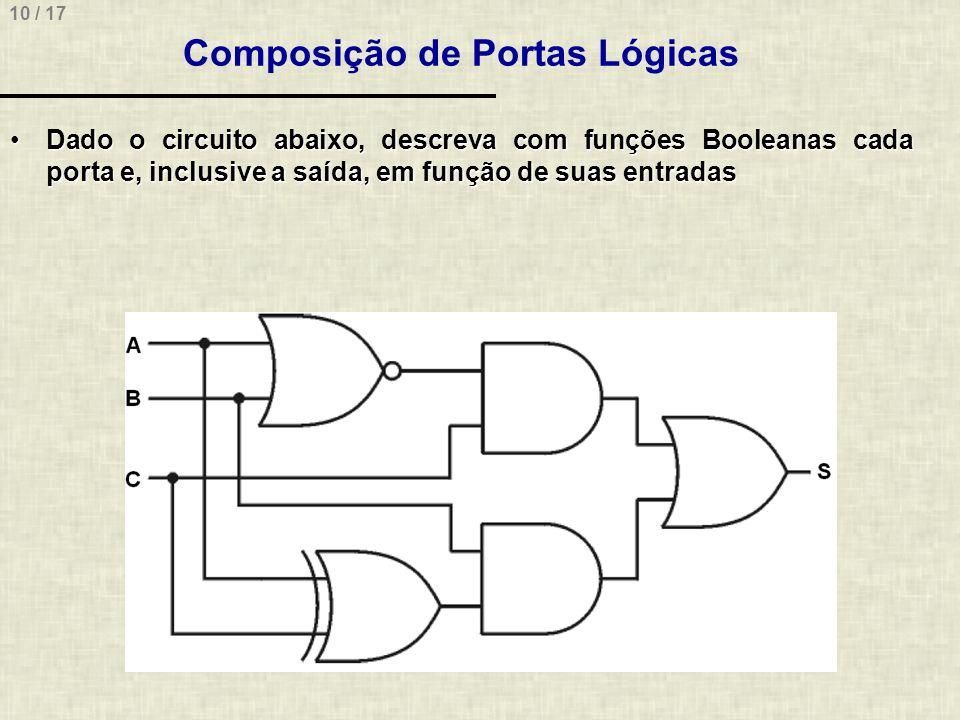 Composição de Portas Lógicas