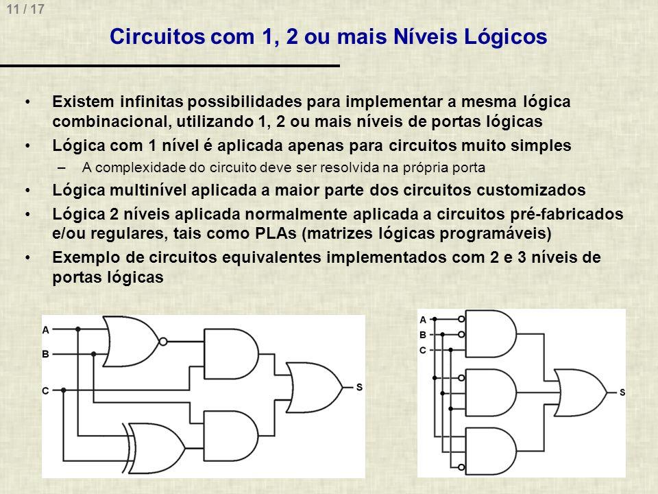 Circuitos com 1, 2 ou mais Níveis Lógicos