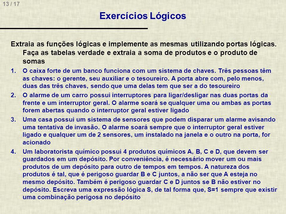 Exercícios Lógicos