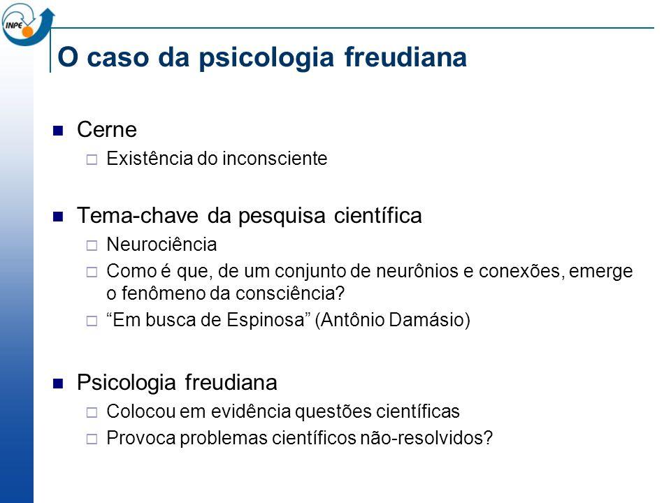 O caso da psicologia freudiana