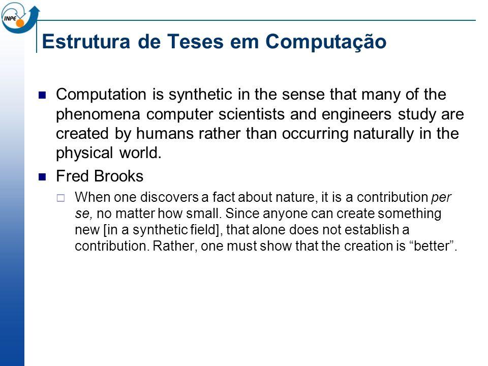 Estrutura de Teses em Computação