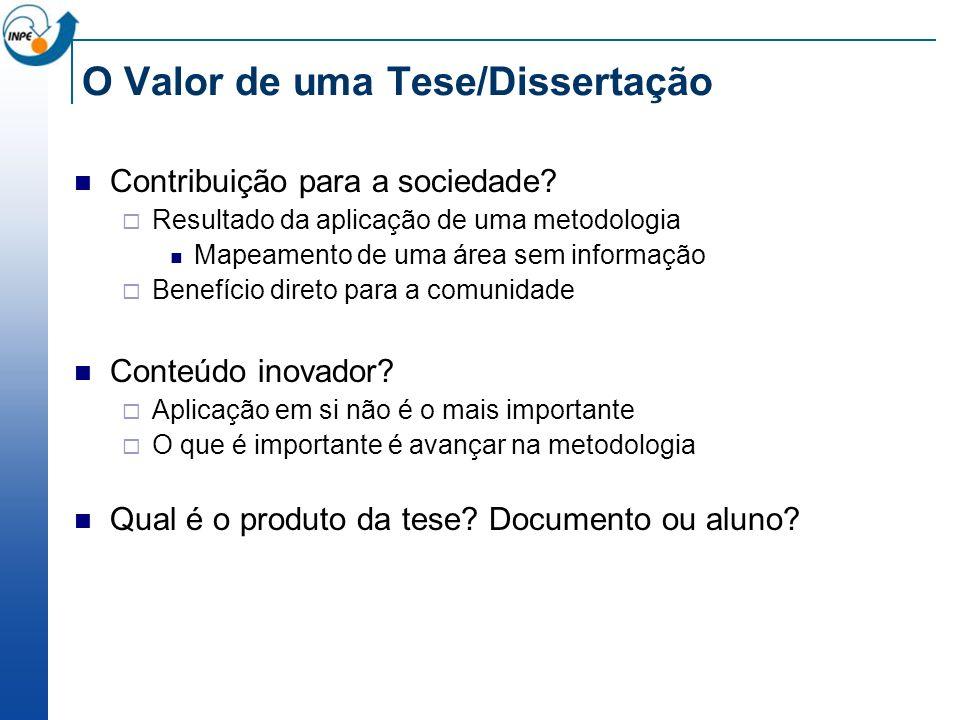 O Valor de uma Tese/Dissertação