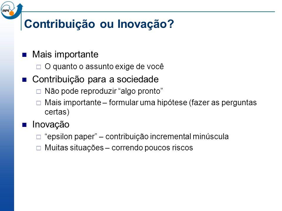 Contribuição ou Inovação