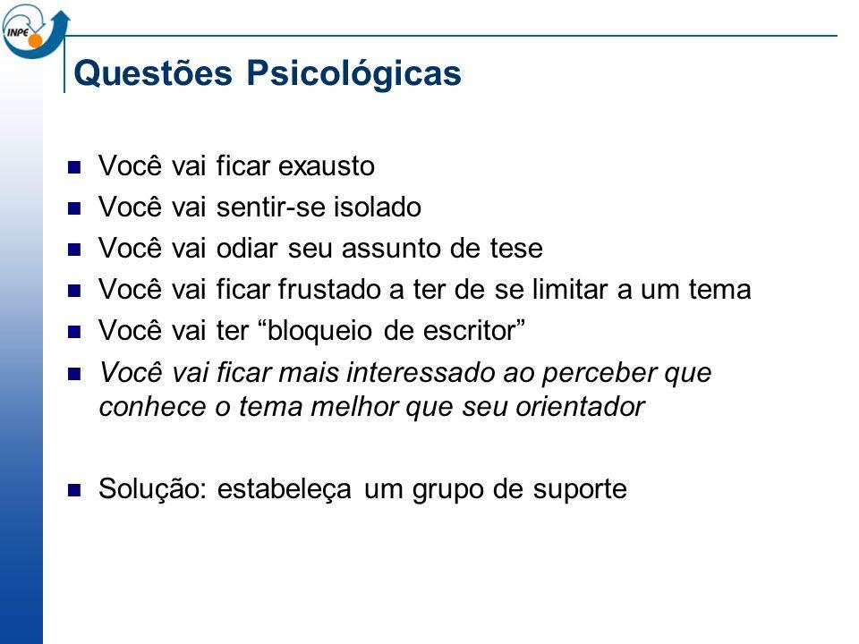 Questões Psicológicas