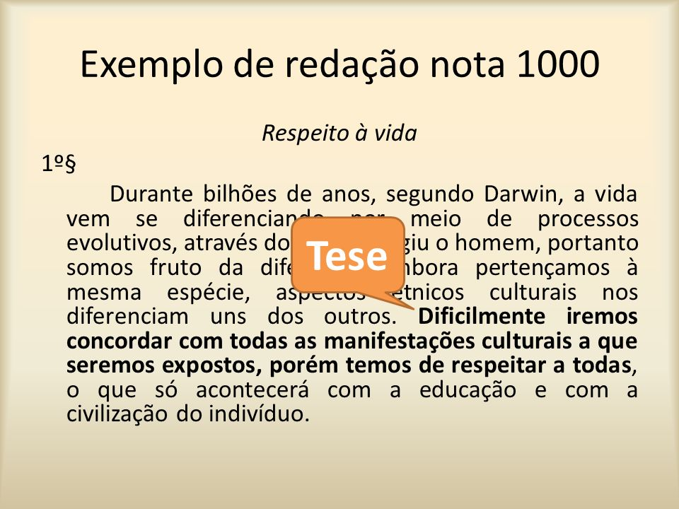 Exemplo de redação nota 1000