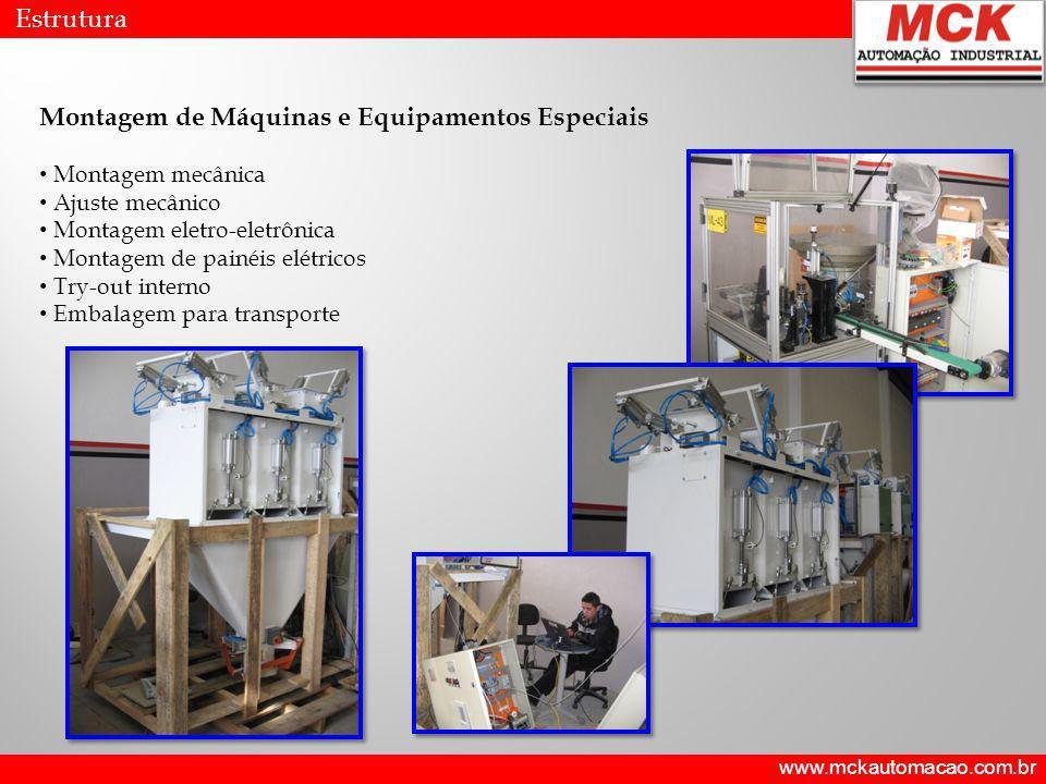 Montagem de Máquinas e Equipamentos Especiais