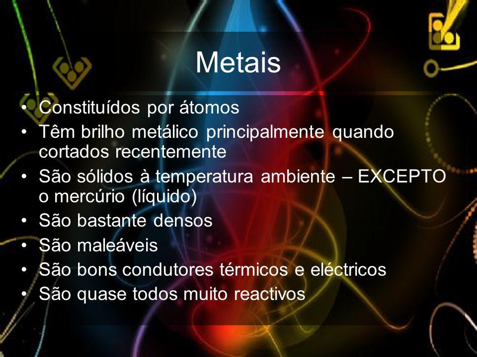 Metais Constituídos por átomos