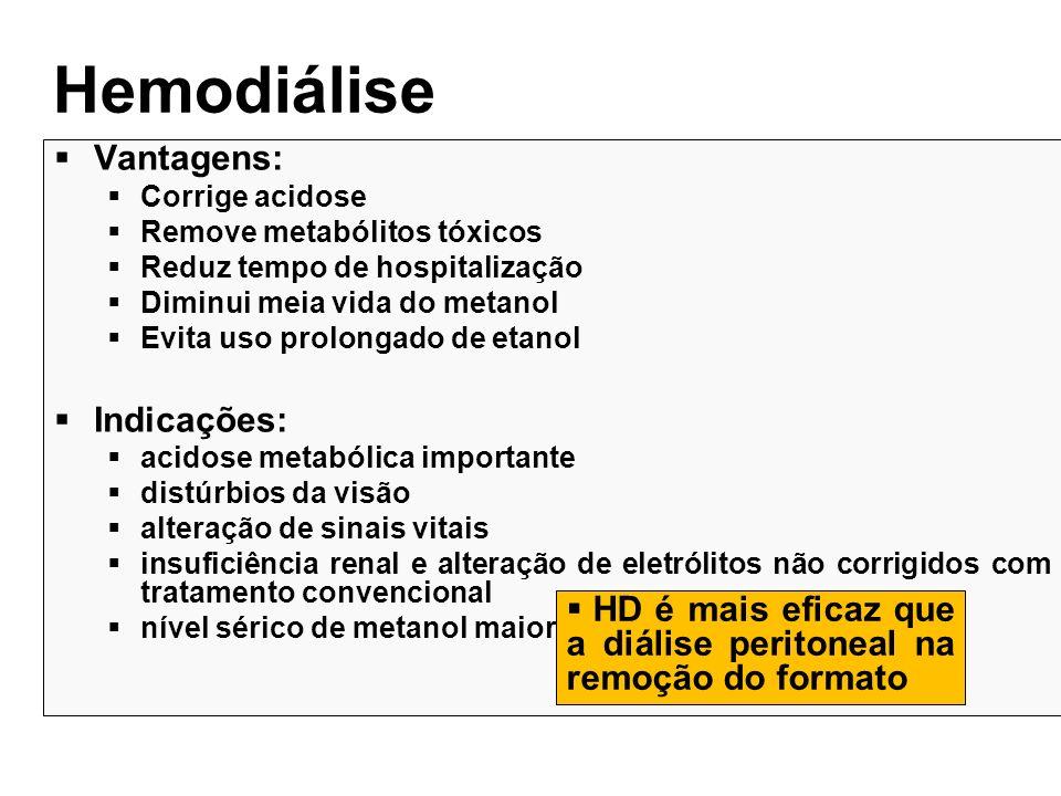Hemodiálise Vantagens: Indicações: