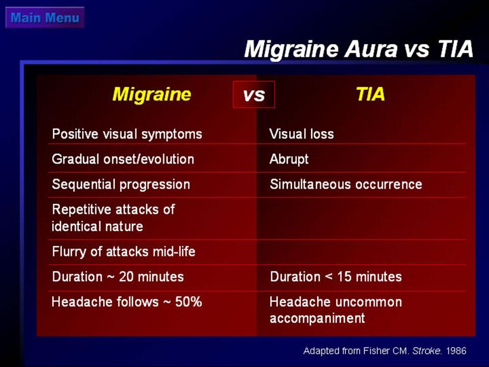 Migraine Aura vs. TIA
