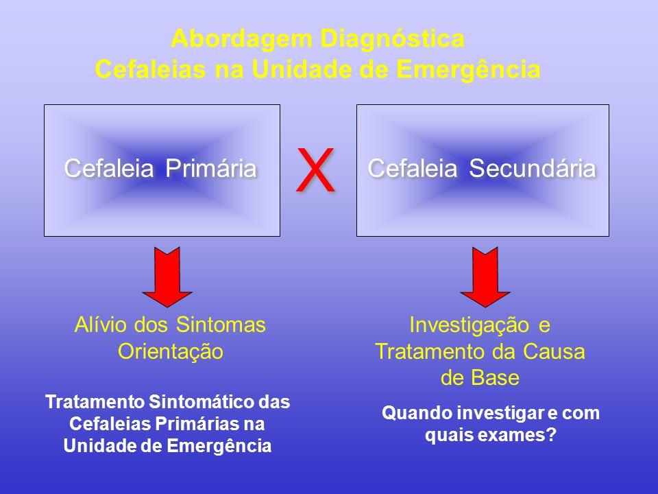X Abordagem Diagnóstica Cefaleias na Unidade de Emergência