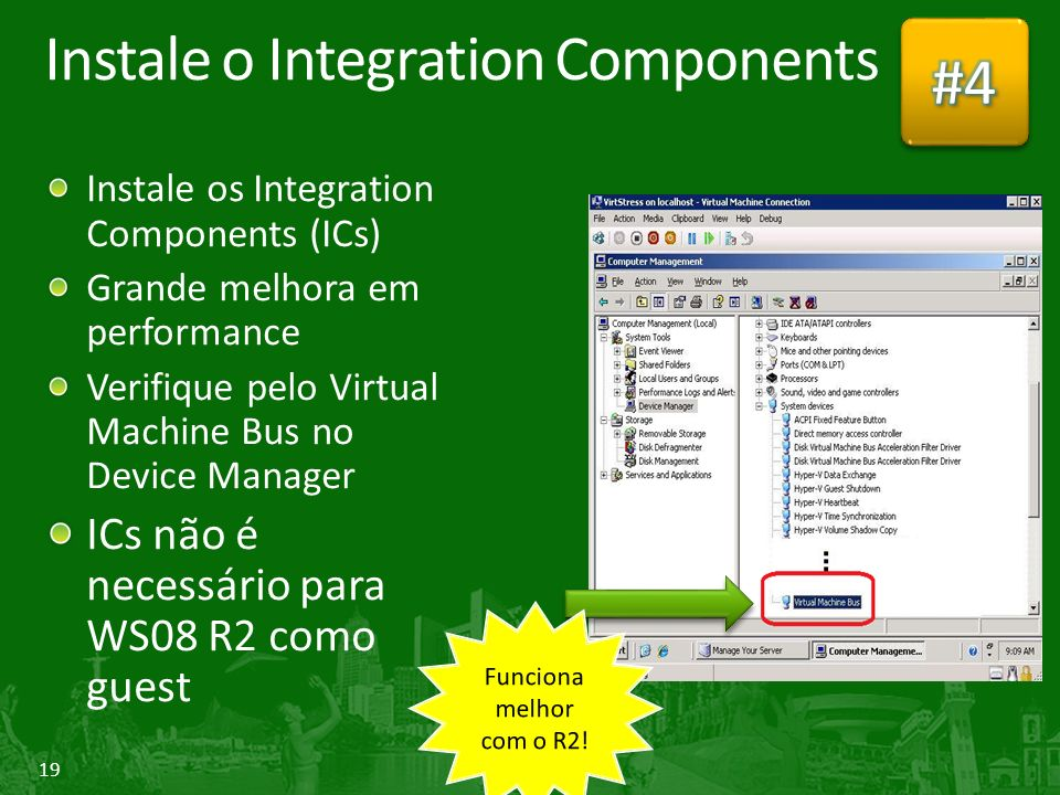 Instale o Integration Components