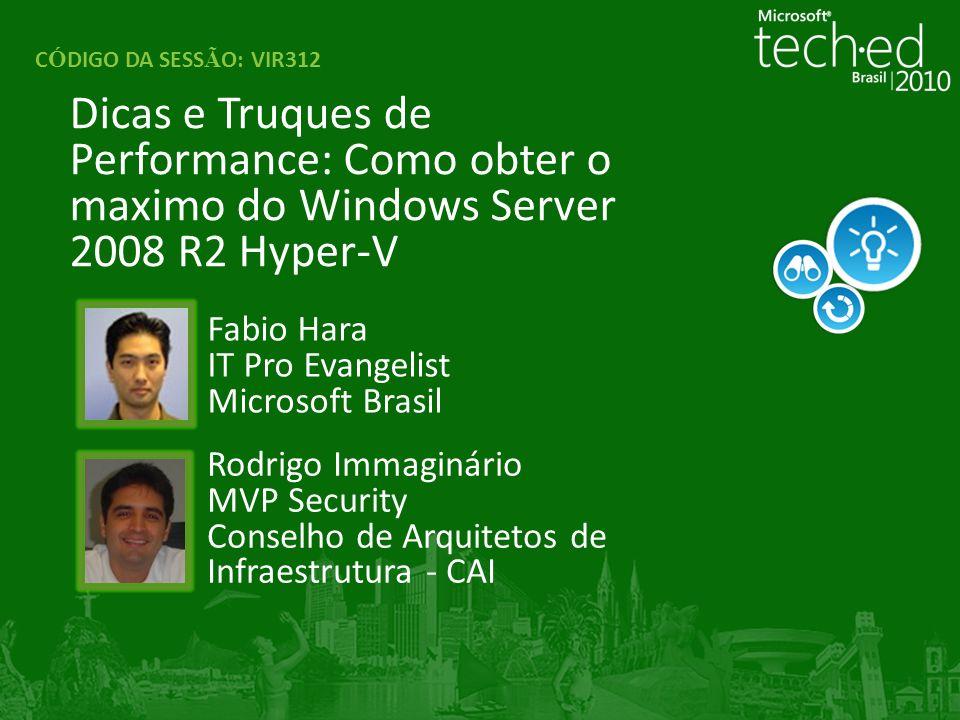 Fabio Hara IT Pro Evangelist Microsoft Brasil