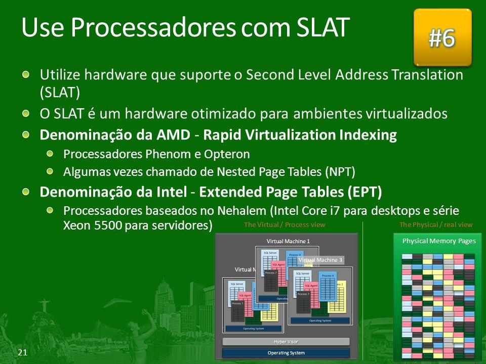 Use Processadores com SLAT