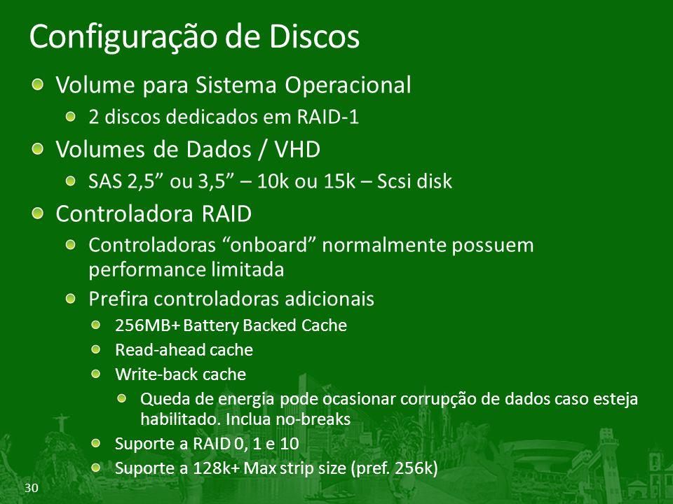 Configuração de Discos