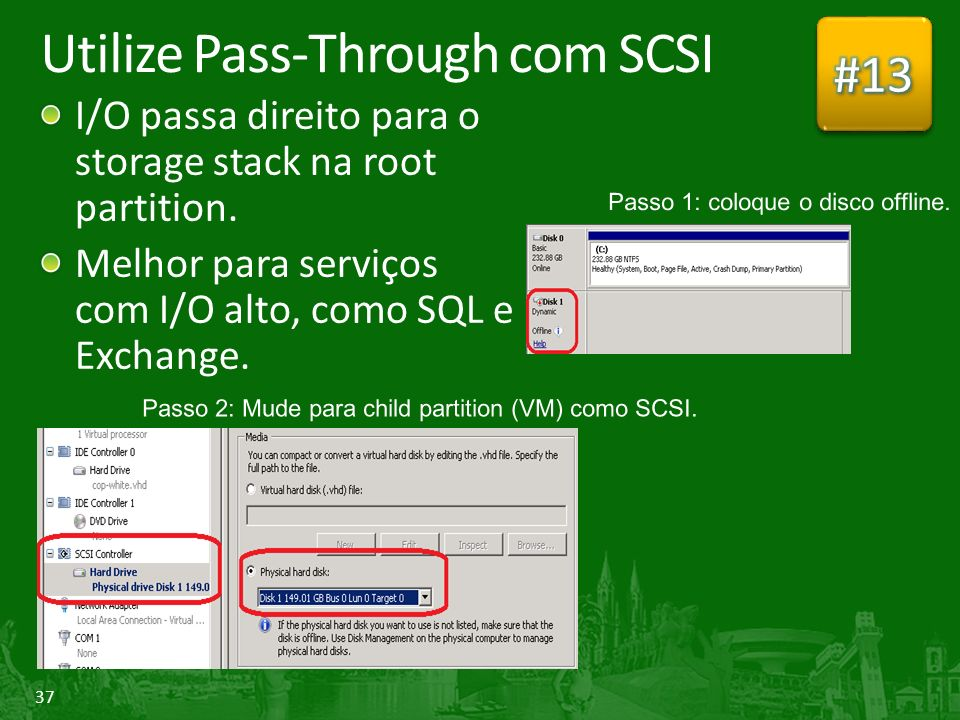 Utilize Pass-Through com SCSI
