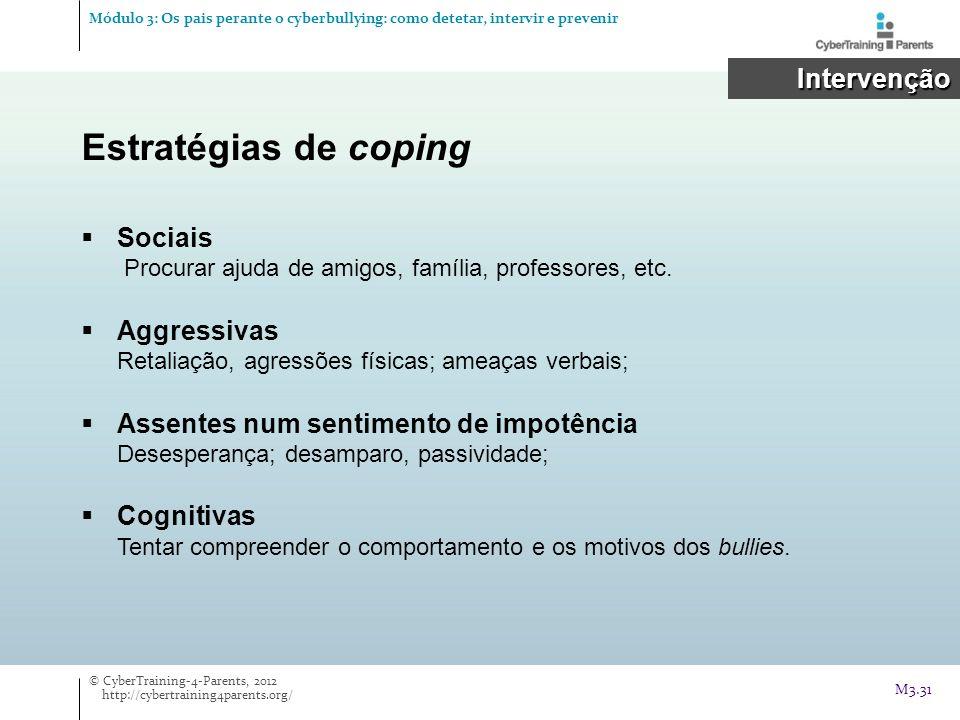 Estratégias de coping Intervenção
