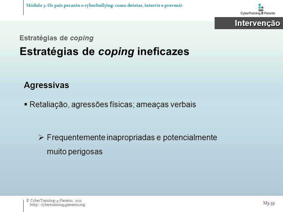 Estratégias de coping ineficazes