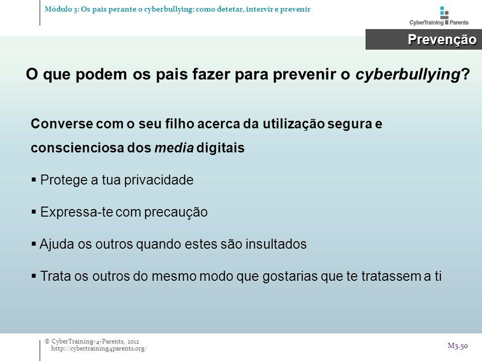 O que podem os pais fazer para prevenir o cyberbullying
