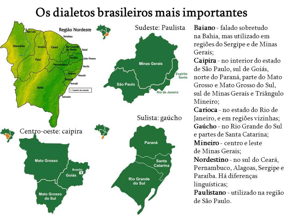 Os dialetos brasileiros mais importantes