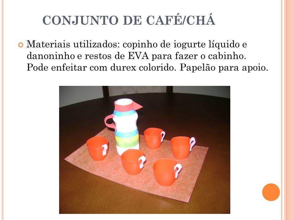 CONJUNTO DE CAFÉ/CHÁ