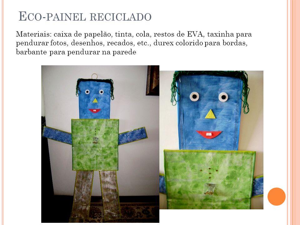 Eco-painel reciclado