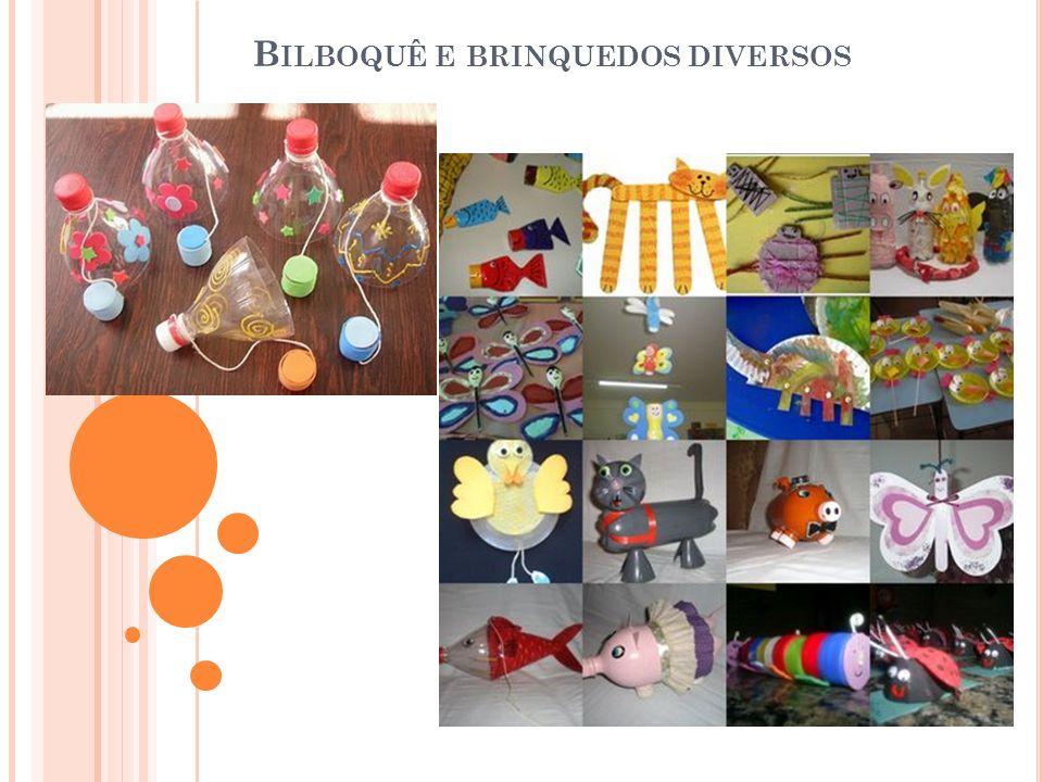 Bilboquê e brinquedos diversos