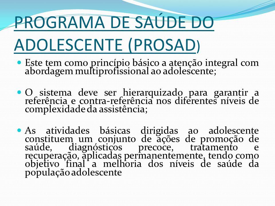 PROGRAMA DE SAÚDE DO ADOLESCENTE (PROSAD)