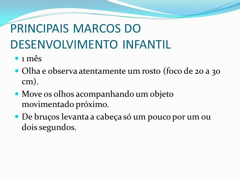 PRINCIPAIS MARCOS DO DESENVOLVIMENTO INFANTIL