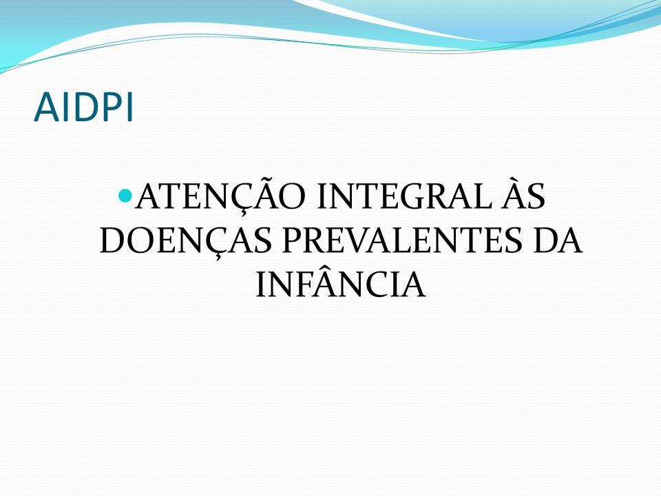 ATENÇÃO INTEGRAL ÀS DOENÇAS PREVALENTES DA INFÂNCIA