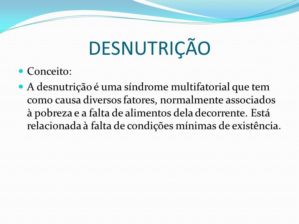 DESNUTRIÇÃO Conceito:
