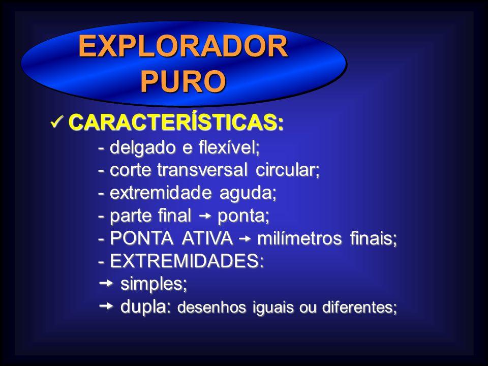 EXPLORADOR PURO  CARACTERÍSTICAS: - delgado e flexível;