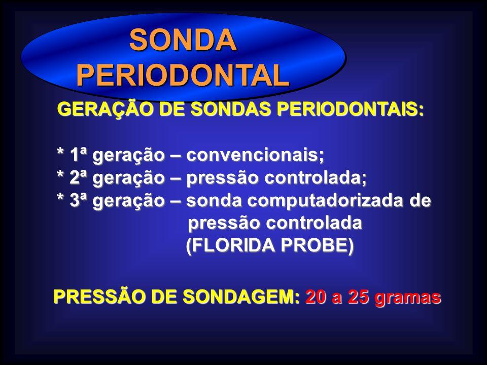 SONDA PERIODONTAL GERAÇÃO DE SONDAS PERIODONTAIS: